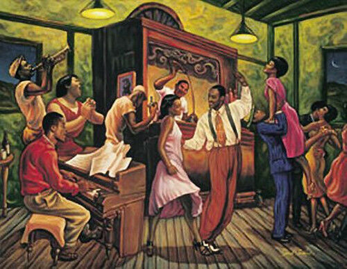 "Famous African American Dance Paintings ""Swing Night&quot..."