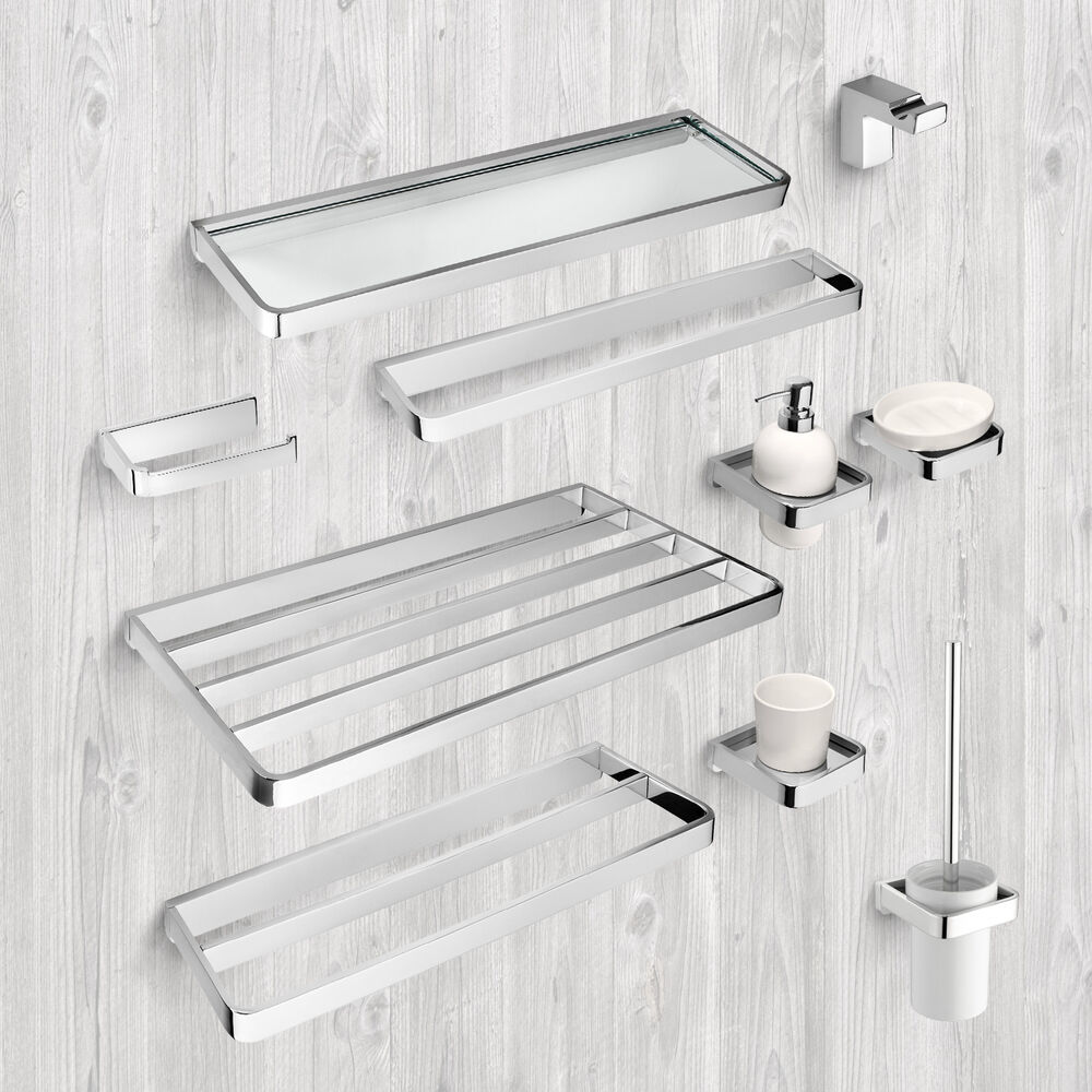Bathroom accessories towel rail rack shelf shelves toilet for Rack for bathroom accessories