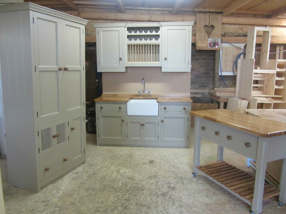 SPECIAL OFFER MURDOCH TROON 4 PIECE FREESTANDING PINE KITCHEN WITH OAK WORKTO