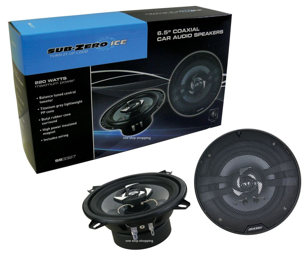 Sub Zero 220w 65 Coaxial 165cm 2 Way Car Door Shelf Speaker Wiring Subwoofer Speakers Ebay