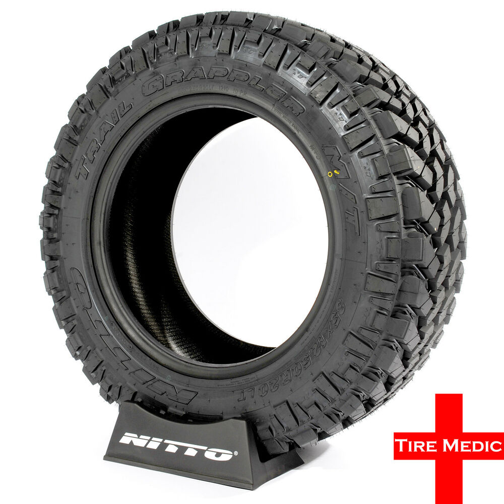 4 new nitto trail grappler m t mud terrain tires lt 285 55. Black Bedroom Furniture Sets. Home Design Ideas