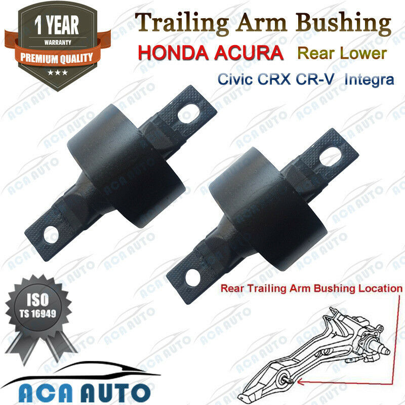 Honda Rear Lower Trailing Arm Bushing Pair Set For Civic