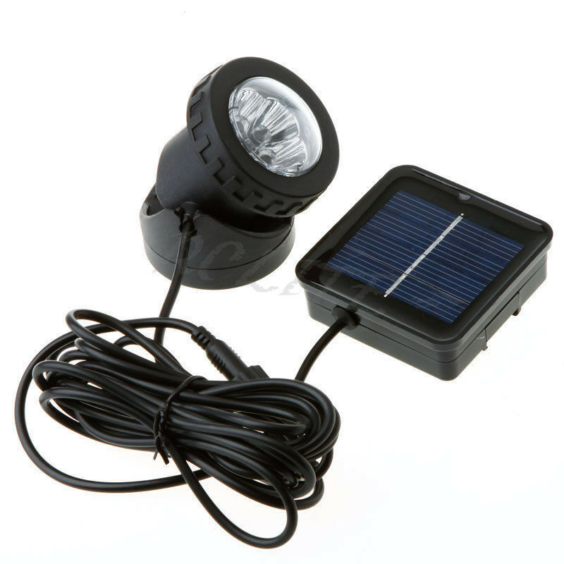 Waterproof Solar Powered LED Spotlight Spot Light Lamp