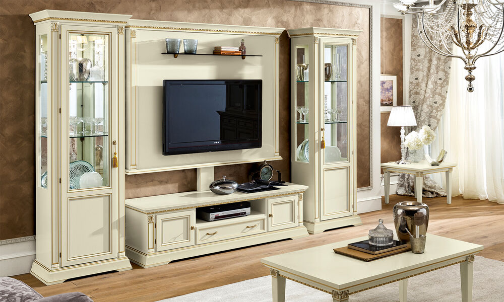 luxus wohnzimmer set treviso elfenbein italienische. Black Bedroom Furniture Sets. Home Design Ideas