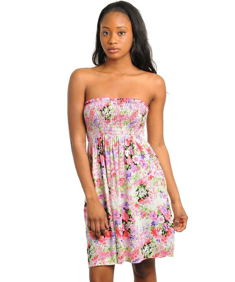 NWT Short Floral summer tube dress