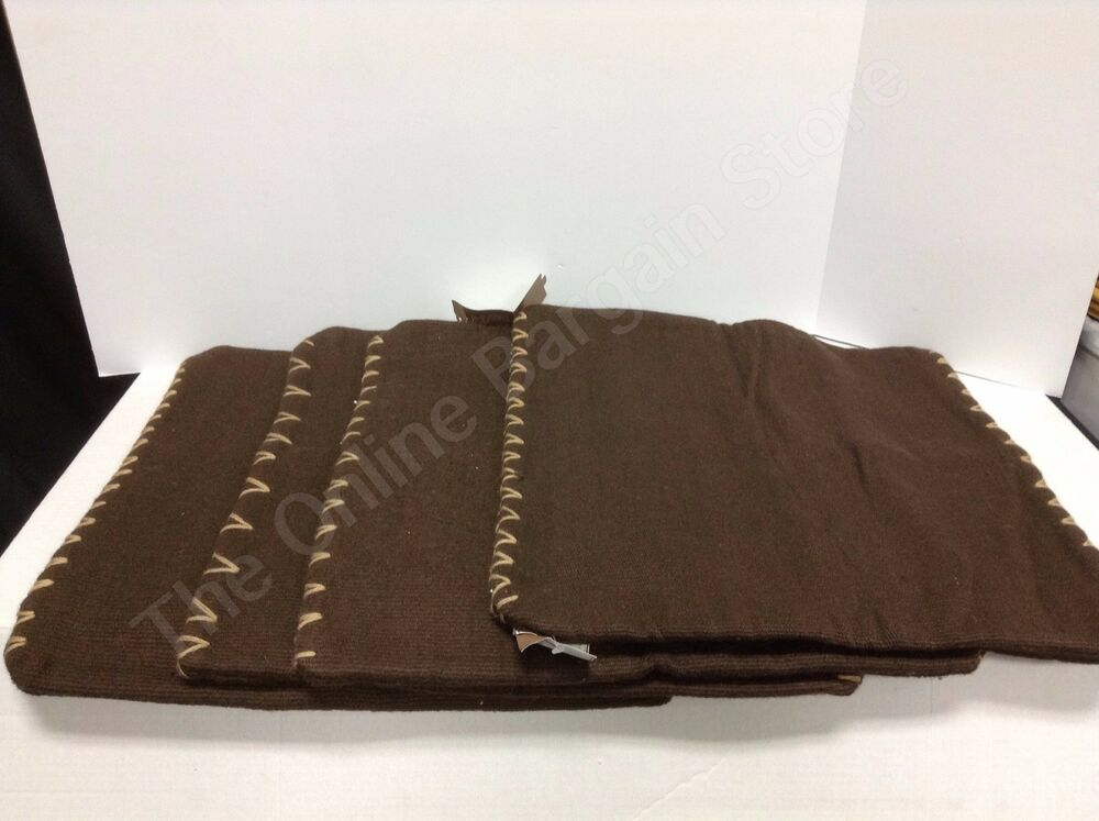 4 Pottery Barn Dhurrie Sham sofa throw Pillow Cover 100% New Zelaand Wool brown eBay