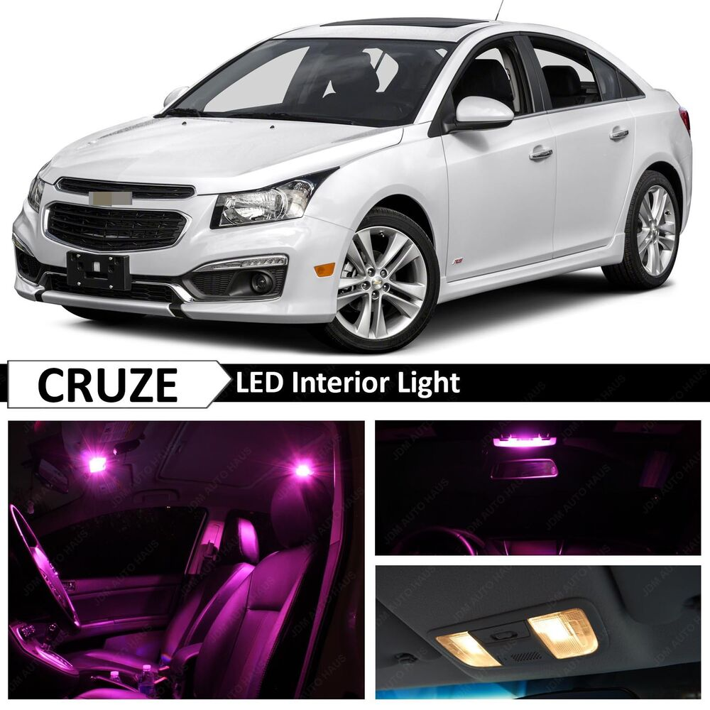 12x premium pink led lights interior package kit for 2011 2017 chevy cruze ebay. Black Bedroom Furniture Sets. Home Design Ideas