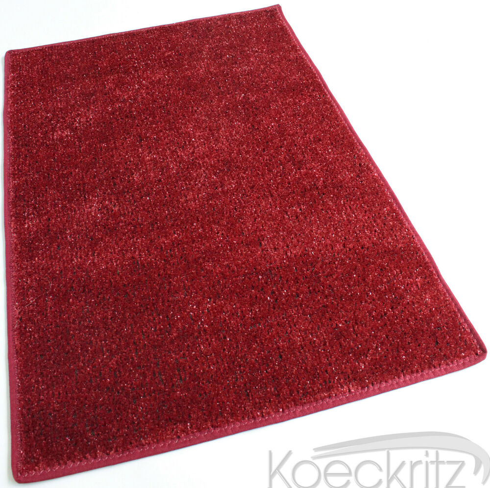 Red Indoor Outdoor Artificial Grass Turf Area Rug Bound