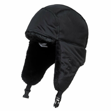 img-Portwest HA13 Lined Winter Trapper Cap Super Warm Weather Proof