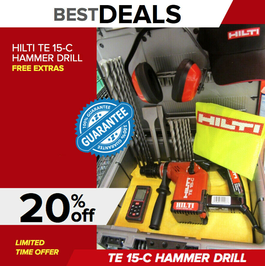 hilti te 15 c drill free measuring laser bits made in germany fast shipping ebay. Black Bedroom Furniture Sets. Home Design Ideas