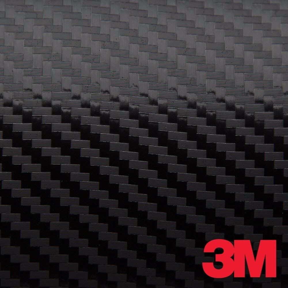 3m 1080 Black Carbon Fiber Vinyl Car Wrap Film Ebay
