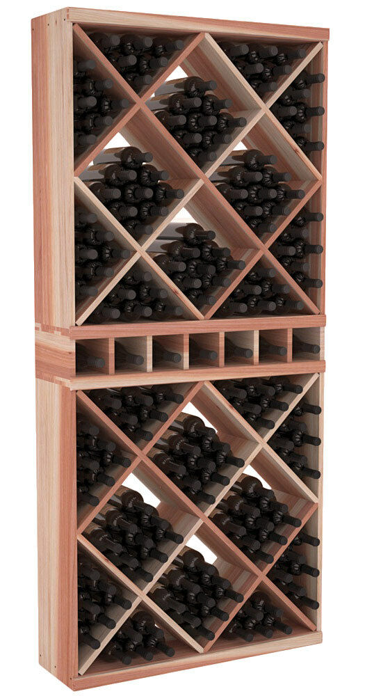 Solid cube full height wine cellar rack kit in premium for Home wine cellar kits