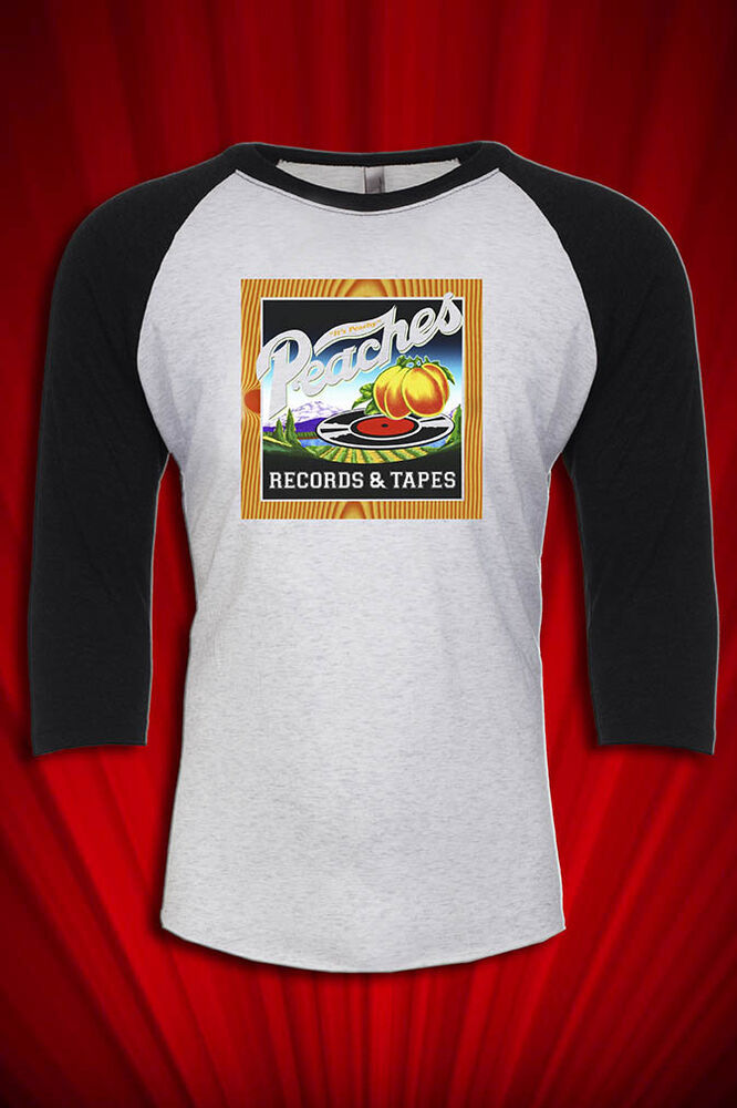 Peaches records tapes retro baseball t shirt vintage for Vintage record company t shirts