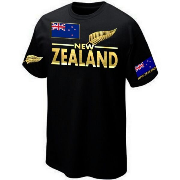 T-Shirt NEW-ZEALAND RUGBY SUPPORTER ALL BLACKS - Maillot