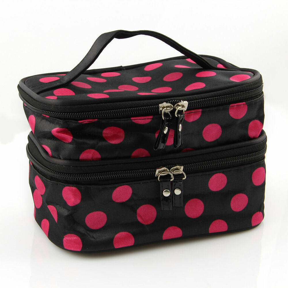 New Women Multifunction Travel Cosmetic Bag Makeup Case
