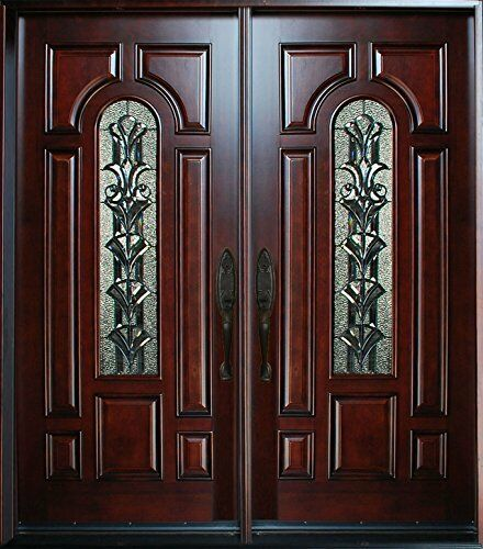 Exterior front entry double house wood door m280a 30 x 80 for Houses with double front doors