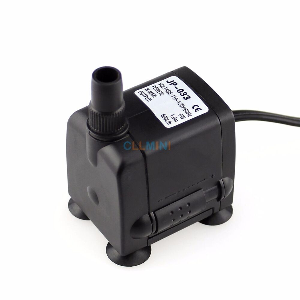160 gph aquarium submersible pump fish tank powerhead for Fish tank water pump
