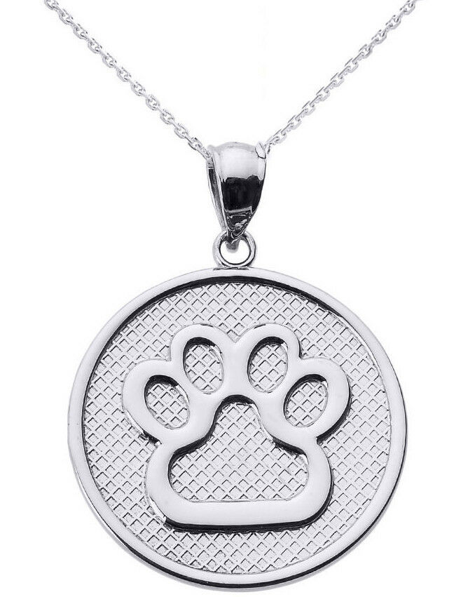 Dog Paw Print Necklace Uk