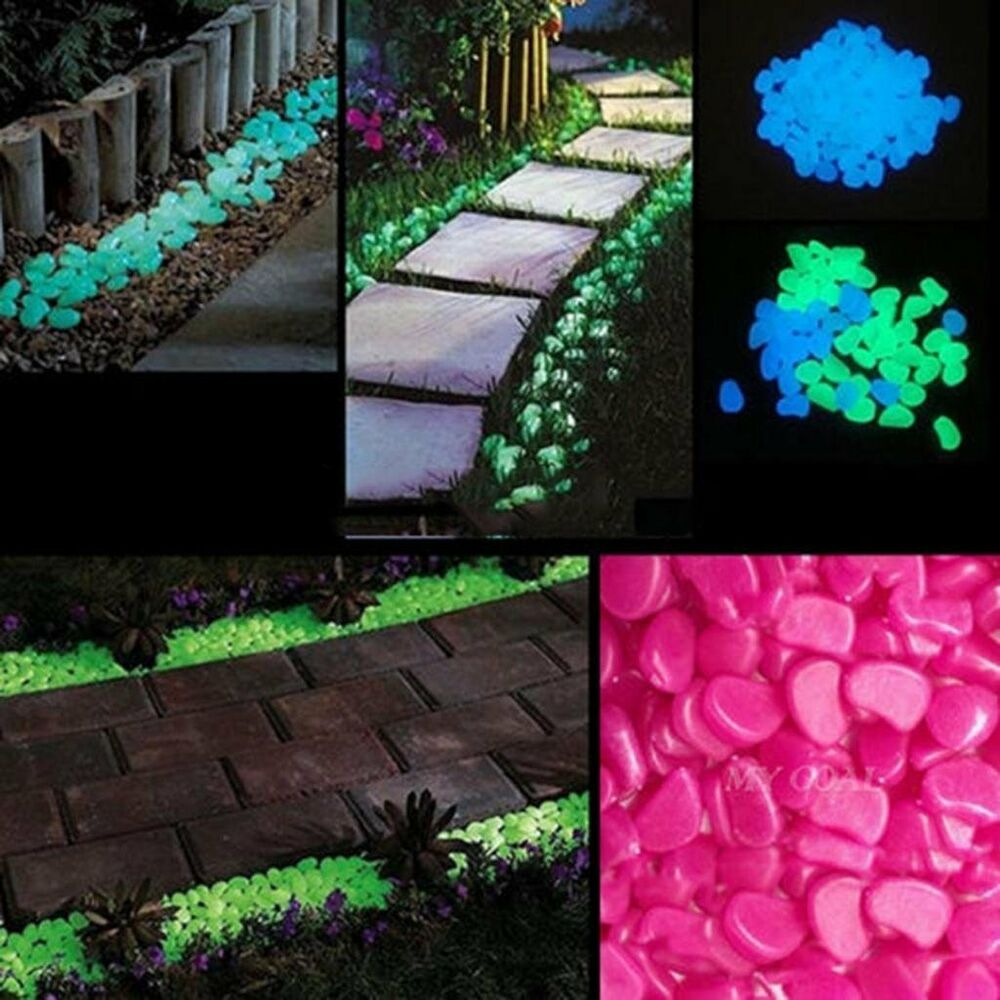Outdoor Blue Pebbles : Pcs hot man made glow in the dark pebbles stone for