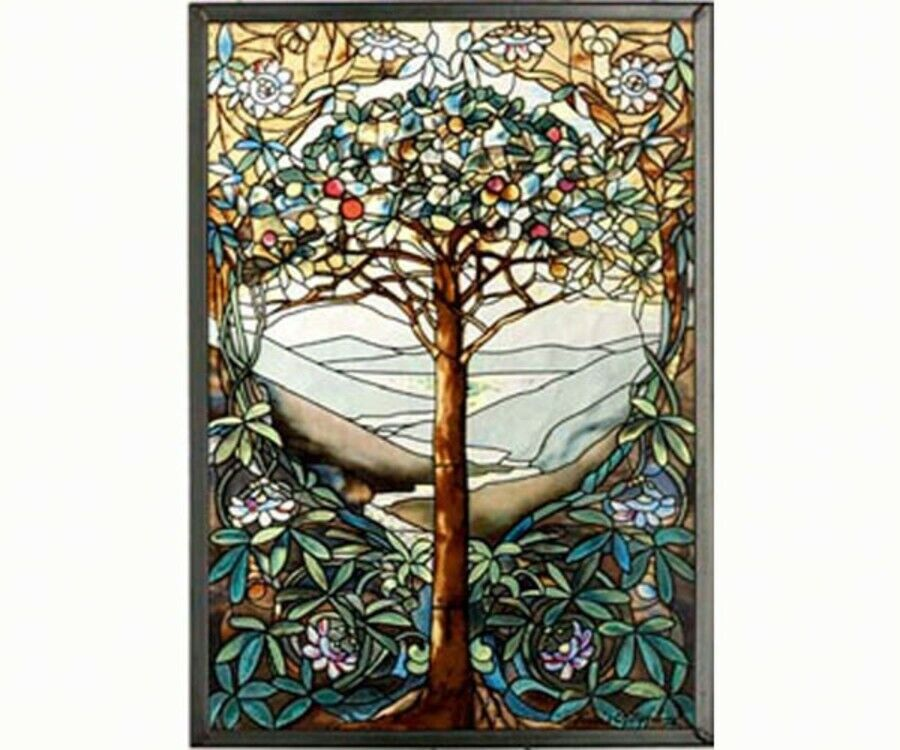 Tree of life suncatcher stained glass