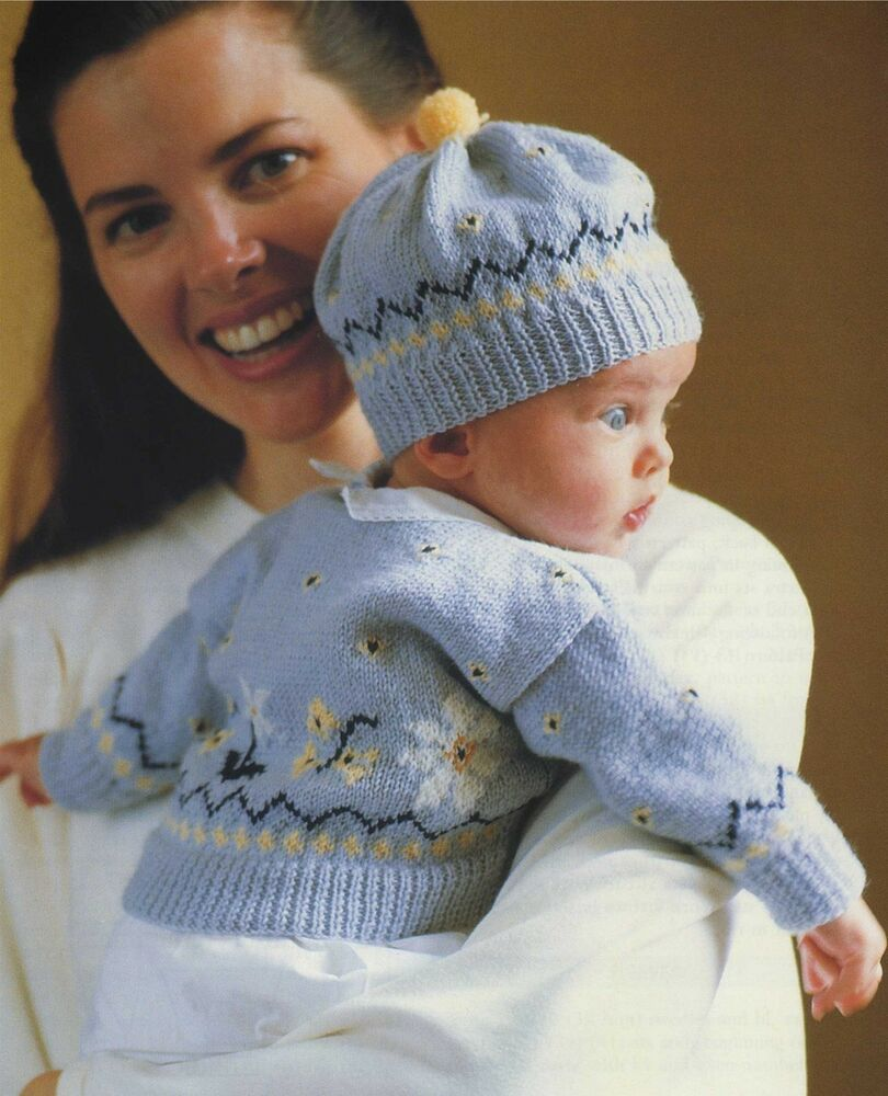Knitting Pattern Cardigan For 18 Months : Baby Fair Isle Cardigan and Hat Knitting Pattern : Babies 0 - 3 and 3 - 6 mon...