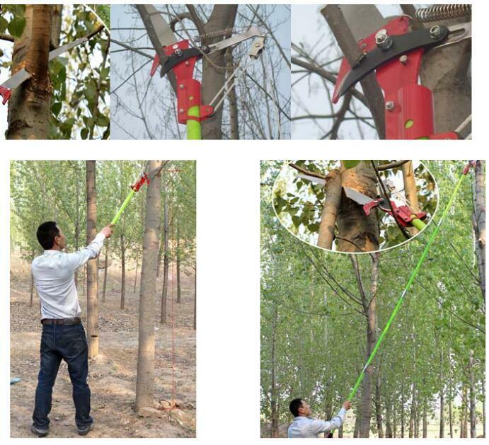 New 26 foot length tree pole pruner tree saw garden tools for Gardening tools made in usa