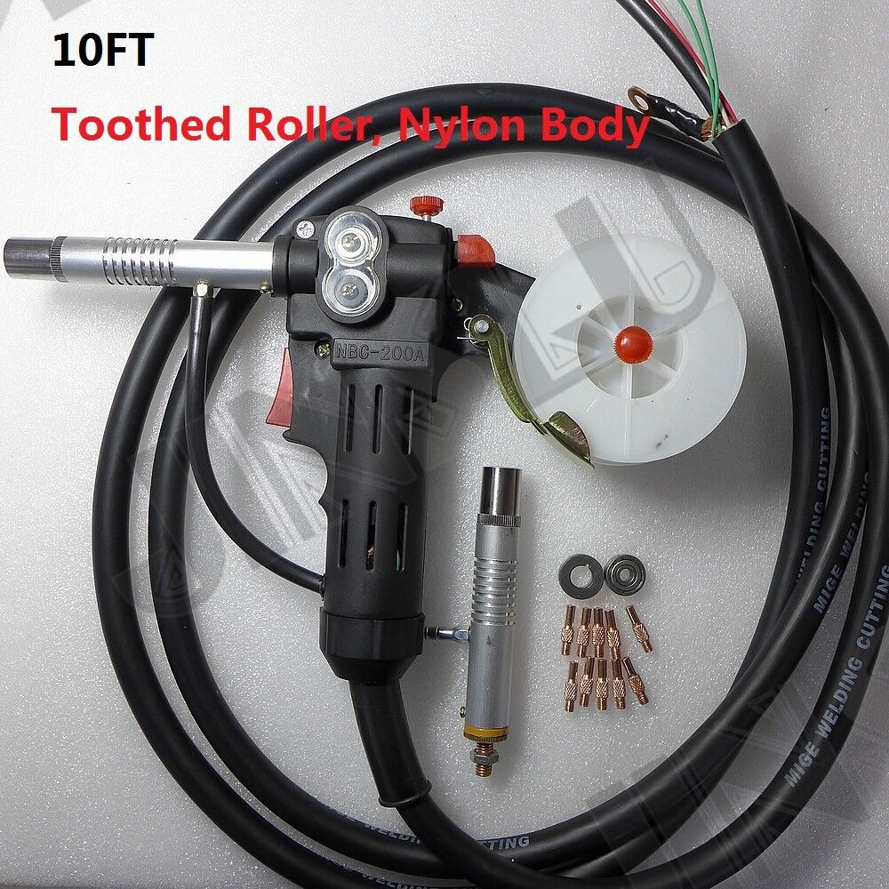 toothed roller 10 feet mig spool gun wire feed aluminum. Black Bedroom Furniture Sets. Home Design Ideas
