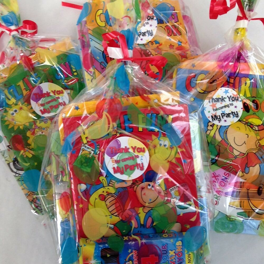 pre filled bags ready made unisex birthday favours
