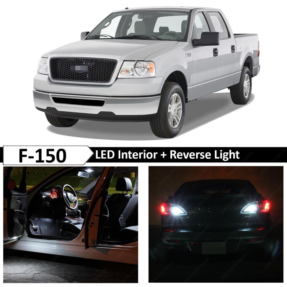 2004 2008 Ford F 150 17x White Interior Reverse Led Light Package Kit Ebay