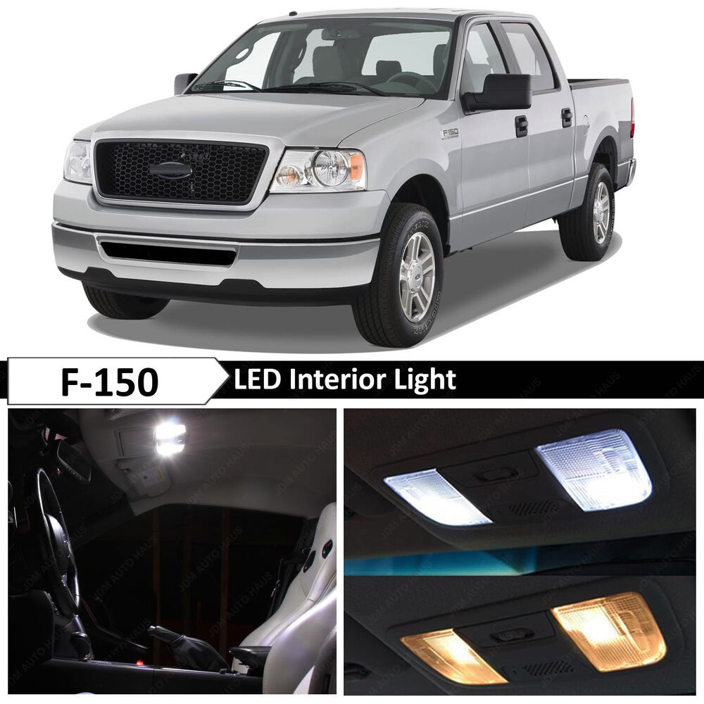 15x White Interior Led Lights Package Kit For 2004 2008 Ford F 150 F150 Tool Ebay
