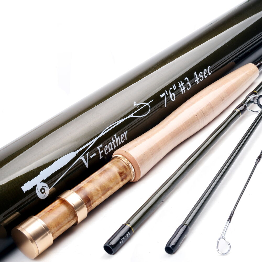 3wt fly rod 7 5ft 4pieces medium fast trout fly fishing for Fly fishing rods