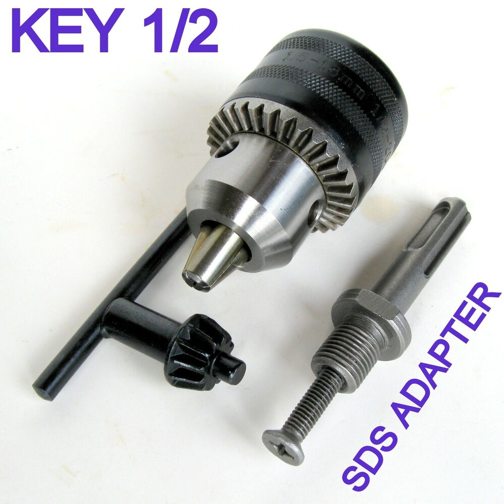 1 pc sds plus adapter and key 1 16 1 2 capacity drill chuck sct 888 ebay. Black Bedroom Furniture Sets. Home Design Ideas