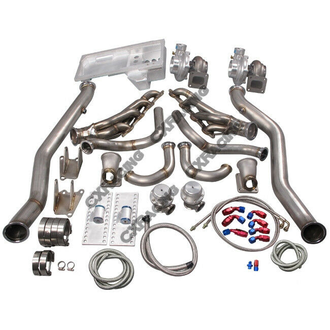 Chevy Turbo Kits : Cx ls twin turbo manifold kit motor mounts oil pan for