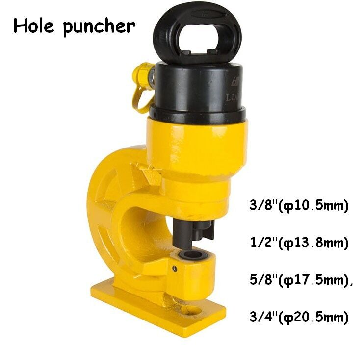 Hydraulic Hole Punching Tool Puncher 4 Dies Thickness