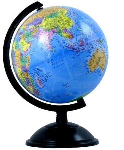 14cm educational toy world globe map on swivel stand gift kids office desk ebay - Globe main office address ...