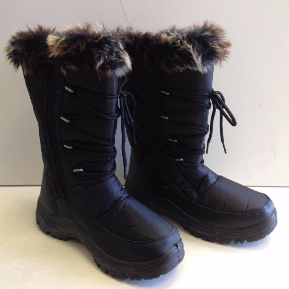 new womens winter boots 10 fur lined insulated waterproof. Black Bedroom Furniture Sets. Home Design Ideas