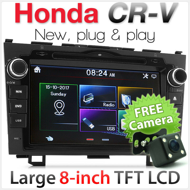 "Taki Taki Lumba Mp3 Audio: 8"" Car DVD MP3 Player For Honda CR-V CRV Stereo Radio Head"