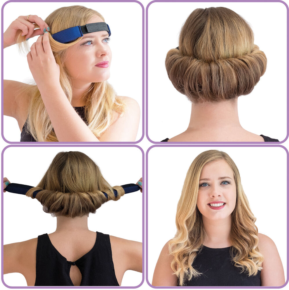 how to style hair with rollers glamwaves roller hair band for effortless sleek 4146