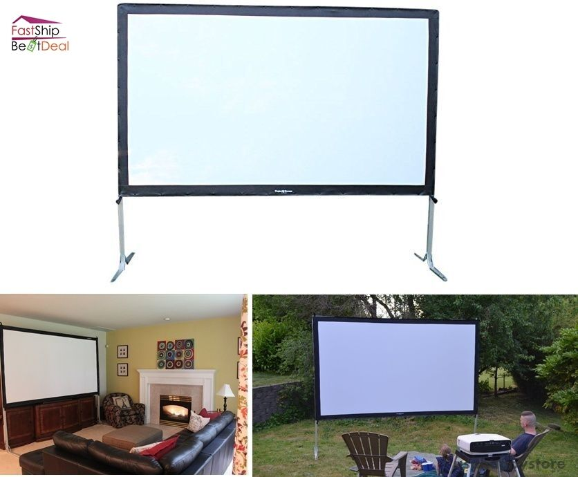 Portable Outdoor Screen : Portable movie projection screen theater tv folding indoor