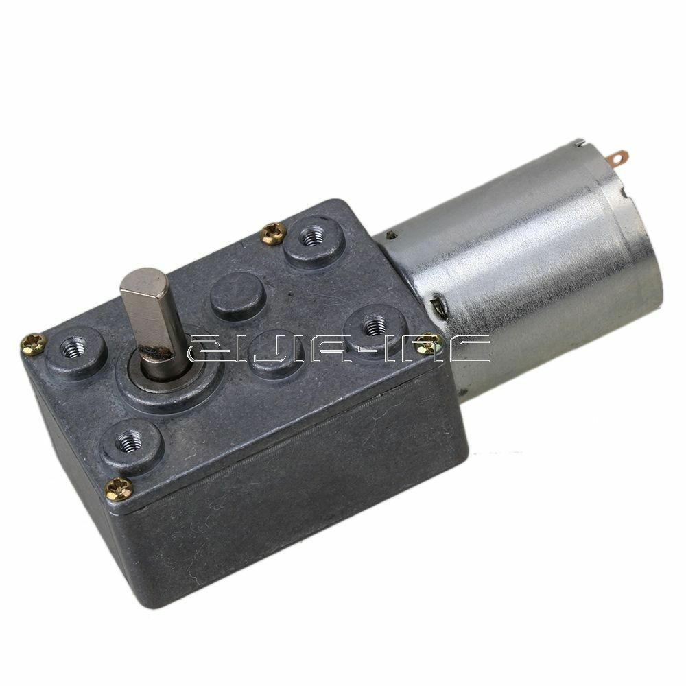 High Torque 12v Dc 2rpm Worm Geared Motor With Gear