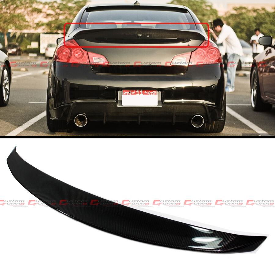 Carbon Fiber Jdm Style Rear Trunk Spoiler For 2009 2013 Infiniti G25 G37 Sedan Ebay