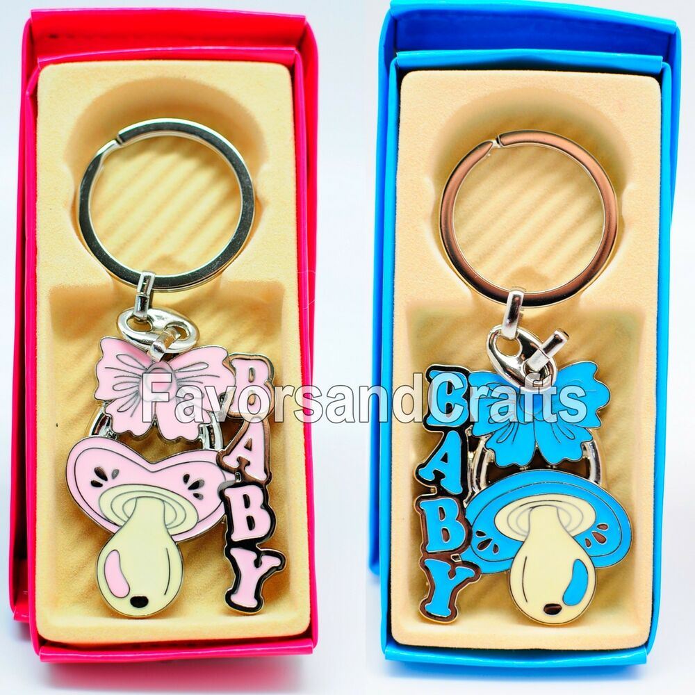Baby Shower Key Ring Favors ~ Baby shower favors pacifier keychains gifts boy girl