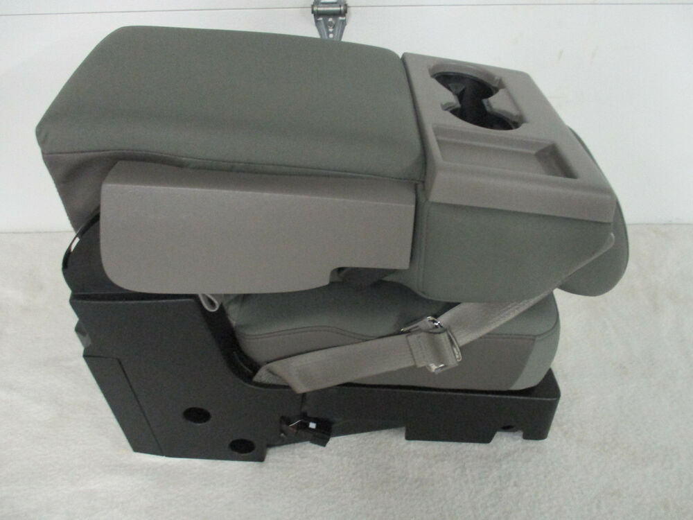 2015 2017 Ford F150 Center Jump Seat Console Gray Cloth