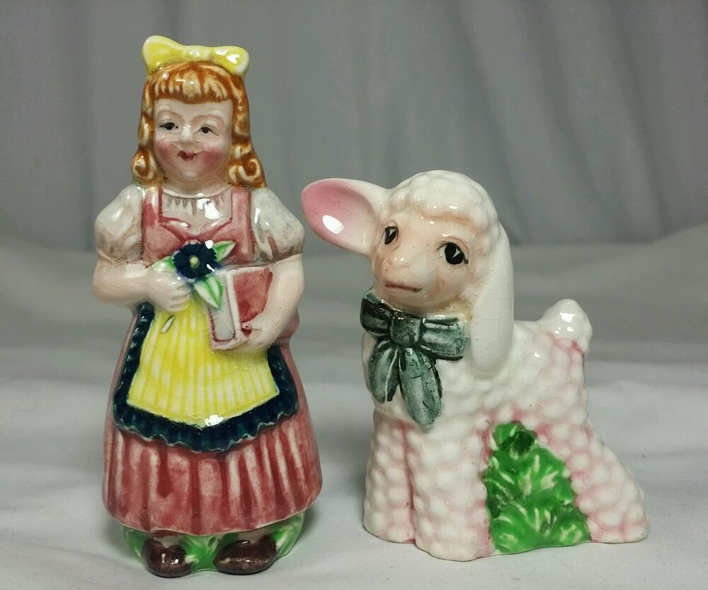 Salt And Pepper Shakers Lusterware Mary Had A Little