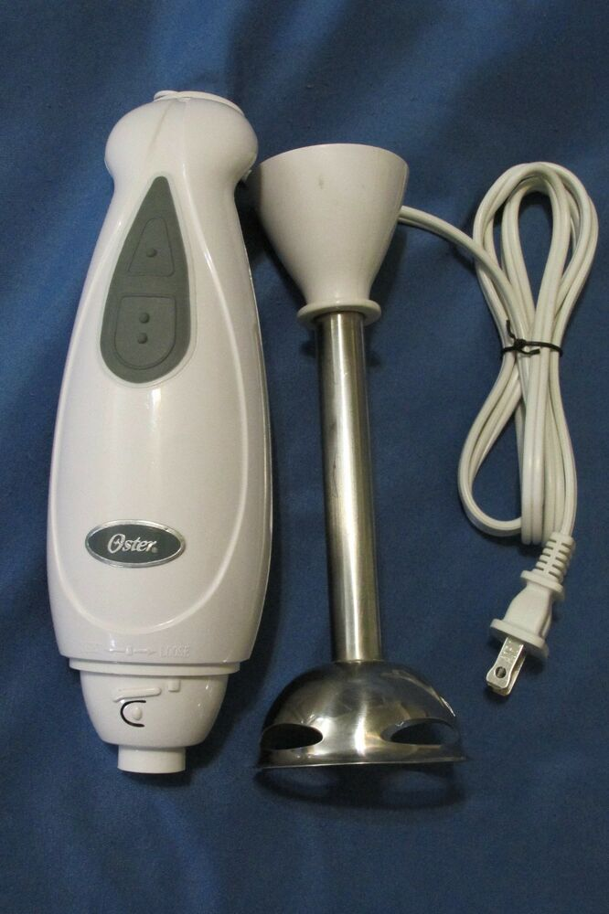 Oster Immersion Handheld Mixer Blender White Amp Gray Model