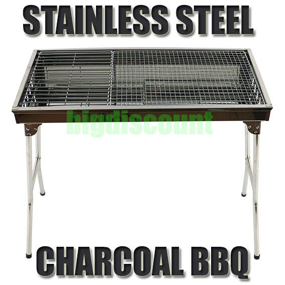Stainless steel bbq charcoal wood outdoor barbecue grill