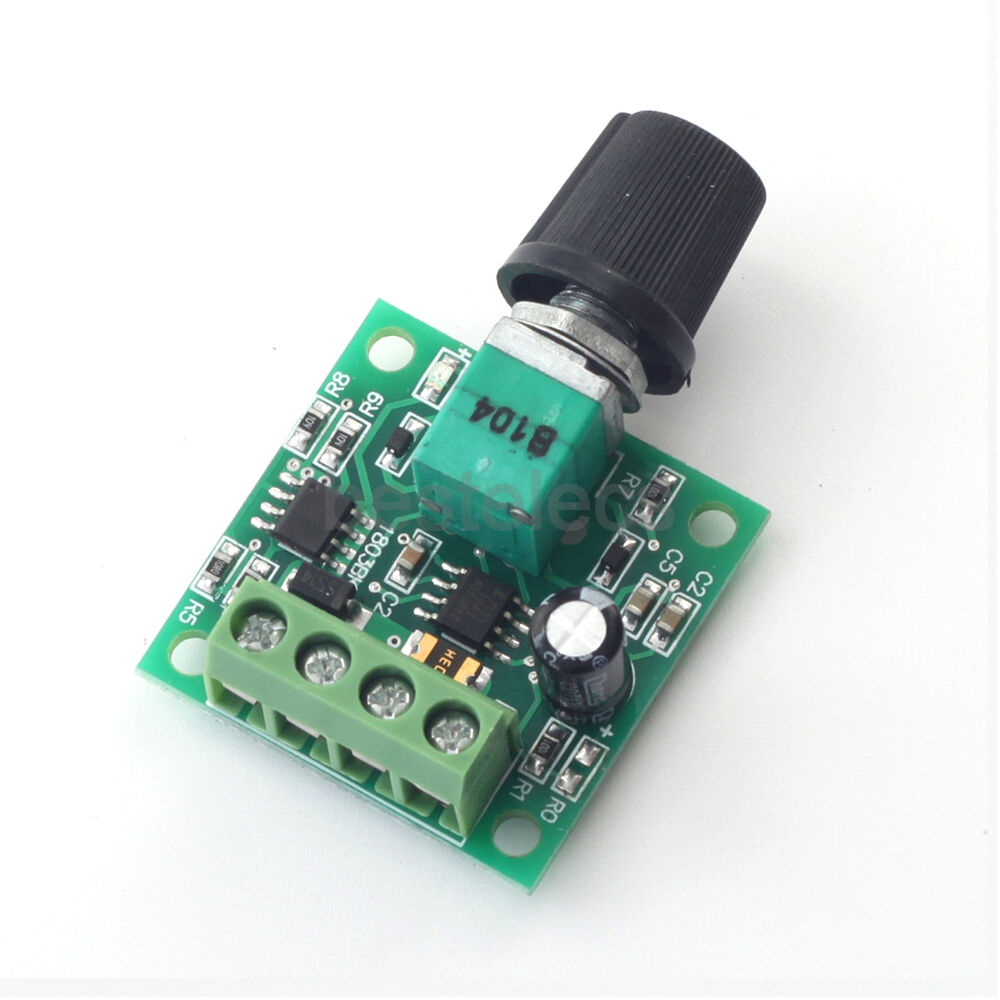Dc Motor Speed Controller Pwm 2a Potentiometer Knob Switch
