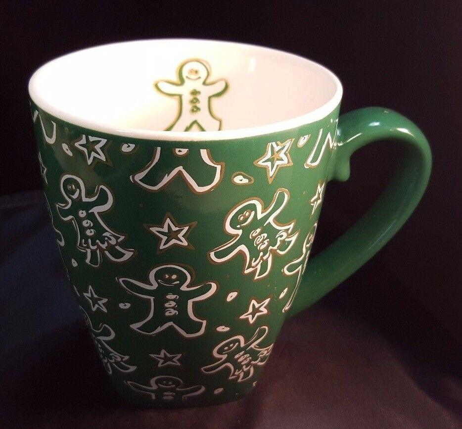Starbucks Mug 2001 Christmas Holiday Green W