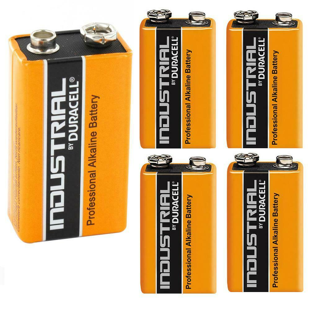 5x duracell industrial 9v pp3 mn1604 block alkaline batteries replaces procell ebay. Black Bedroom Furniture Sets. Home Design Ideas