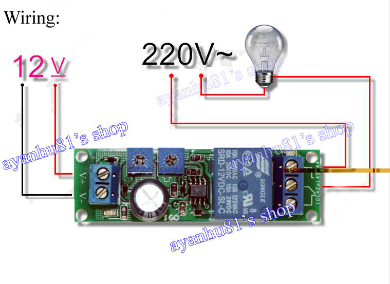 dc 12v infinite cycle delay timing timer relay on loop module time 10 1400s ebay